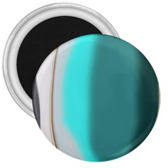 Turquoise Abstract 3  Magnets