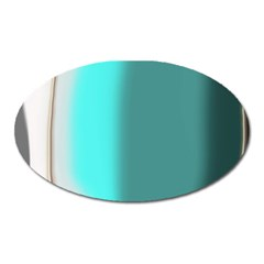 Turquoise Abstract Oval Magnet