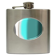 Turquoise Abstract Hip Flask (6 oz)