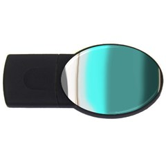 Turquoise Abstract USB Flash Drive Oval (1 GB)