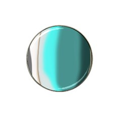 Turquoise Abstract Hat Clip Ball Marker (10 pack)