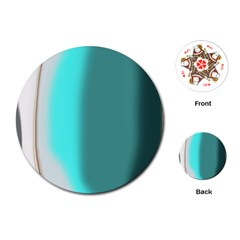 Turquoise Abstract Playing Cards (Round)