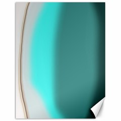 Turquoise Abstract Canvas 12  x 16