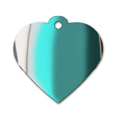 Turquoise Abstract Dog Tag Heart (Two Sides)