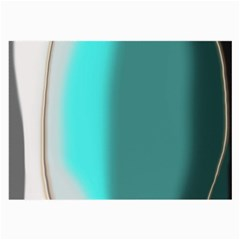Turquoise Abstract Large Glasses Cloth