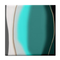 Turquoise Abstract Face Towel