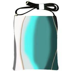 Turquoise Abstract Shoulder Sling Bags