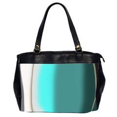 Turquoise Abstract Office Handbags (2 Sides)