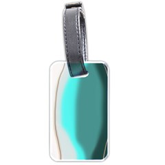 Turquoise Abstract Luggage Tags (One Side)