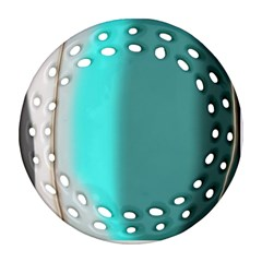 Turquoise Abstract Ornament (Round Filigree)