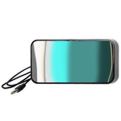 Turquoise Abstract Portable Speaker (Black)