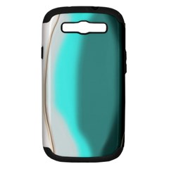 Turquoise Abstract Samsung Galaxy S III Hardshell Case (PC+Silicone)