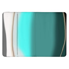 Turquoise Abstract Samsung Galaxy Tab 8.9  P7300 Flip Case
