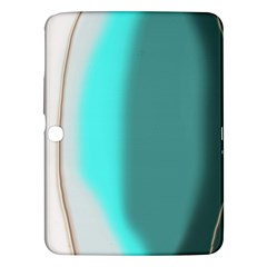 Turquoise Abstract Samsung Galaxy Tab 3 (10.1 ) P5200 Hardshell Case