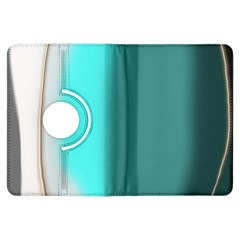 Turquoise Abstract Kindle Fire HDX Flip 360 Case