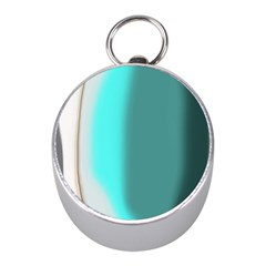 Turquoise Abstract Mini Silver Compasses