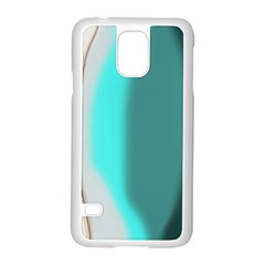 Turquoise Abstract Samsung Galaxy S5 Case (White)