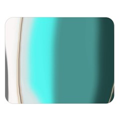 Turquoise Abstract Double Sided Flano Blanket (Large)