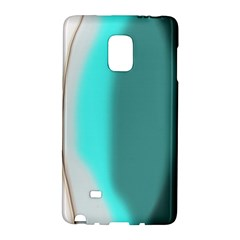 Turquoise Abstract Galaxy Note Edge