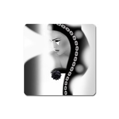 Silence Of Beauty Square Magnet