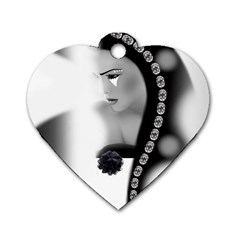 Silence Of Beauty Dog Tag Heart (One Side)