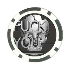 Fuck You Poker Chip Card Guard (10 pack)