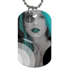 Turquoise Angel Dog Tag (Two Sides)