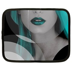 Turquoise Angel Netbook Case (Large)