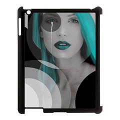 Turquoise Angel Apple iPad 3/4 Case (Black)