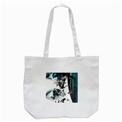 Blue Eye Tote Bag (White)