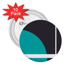 Turquoise Line 2.25  Buttons (10 pack)