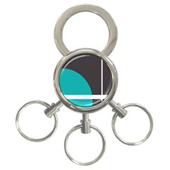 Turquoise Line 3-Ring Key Chains