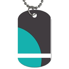 Turquoise Line Dog Tag (Two Sides)