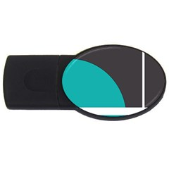 Turquoise Line USB Flash Drive Oval (2 GB)