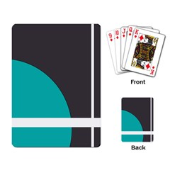 Turquoise Line Playing Card