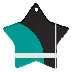 Turquoise Line Star Ornament (Two Sides)