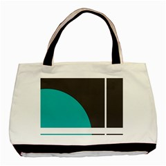 Turquoise Line Basic Tote Bag (Two Sides)