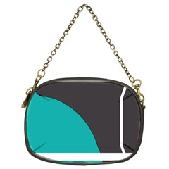Turquoise Line Chain Purses (Two Sides)