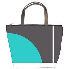 Turquoise Line Bucket Bags