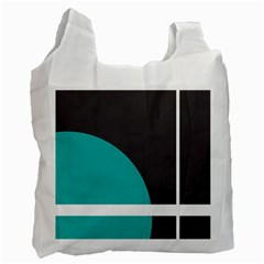 Turquoise Line Recycle Bag (Two Side)