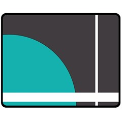 Turquoise Line Fleece Blanket (Medium)