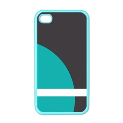 Turquoise Line Apple iPhone 4 Case (Color)