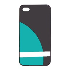 Turquoise Line Apple iPhone 4/4s Seamless Case (Black)