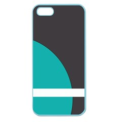 Turquoise Line Apple Seamless iPhone 5 Case (Color)