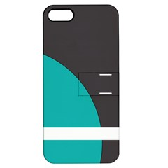 Turquoise Line Apple iPhone 5 Hardshell Case with Stand