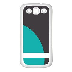 Turquoise Line Samsung Galaxy S3 Back Case (White)
