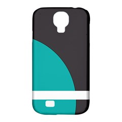 Turquoise Line Samsung Galaxy S4 Classic Hardshell Case (PC+Silicone)