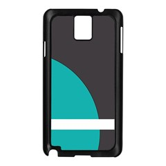 Turquoise Line Samsung Galaxy Note 3 N9005 Case (Black)