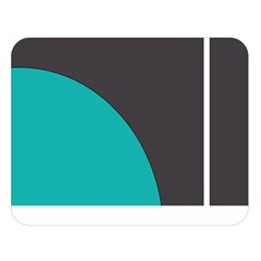 Turquoise Line Double Sided Flano Blanket (Large)