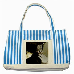 Burnt Striped Blue Tote Bag